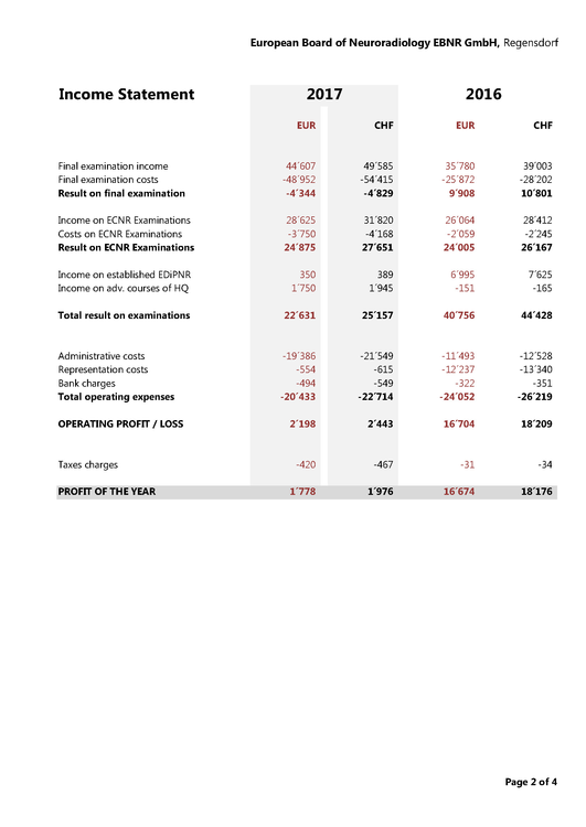 Audit Reports of Financial Statements